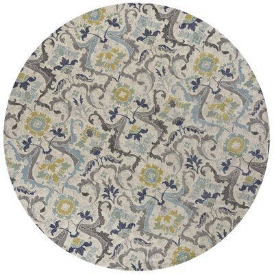 Curtice Gray Harmony Area Rug Rug Size: Round 710