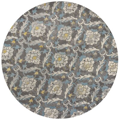 Somerset Gray Area Rug Rug Size: Round 710