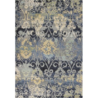 Curtice Gray Grace Area Rug Rug Size: Rectangle 53 x77