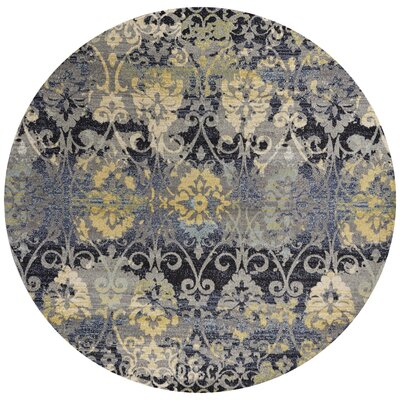 Curtice Gray Grace Area Rug Rug Size: Round 710