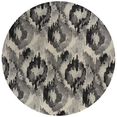 Chesterfield Gray Area Rug Rug Size: Round 710
