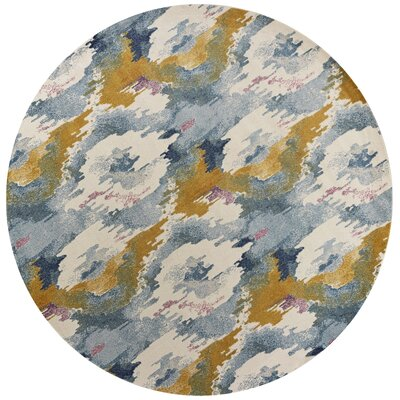 Chesterfield Teal Area Rug Rug Size: Round 7'10