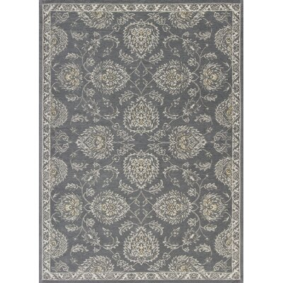 Hodge Gray Bentley Area Rug Rug Size: 5 x 7