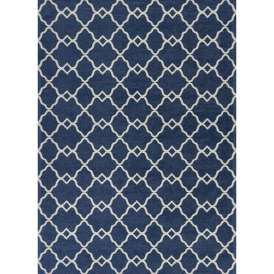 Cambridge Navy Layla Area Rug Rug Size: 33 x 53