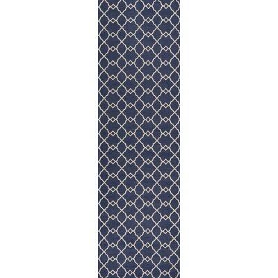 Cambridge Navy Layla Area Rug Rug Size: Runner 22 x 76