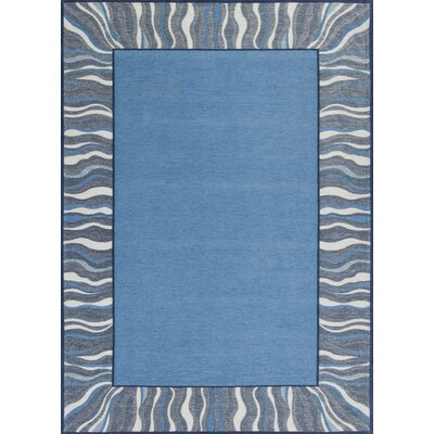 Hancock Waves Denim Blue Area Rug Rug Size: 26 x 45