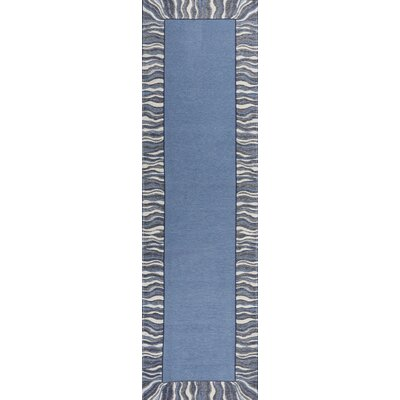 Hancock Waves Denim Blue Area Rug Rug Size: Runner 22 x 76