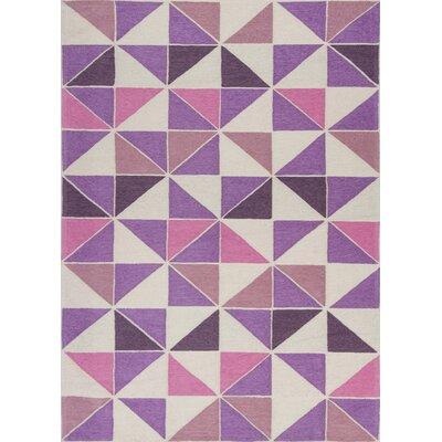 Audry Kaleidoscope Ivory/Pink Area Rug Rug Size: 33 x 53