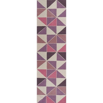 Audry Kaleidoscope Ivory/Pink Area Rug Rug Size: Runner 22 x 76