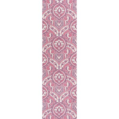 Audry Pink Area Rug Rug Size: Runner 22 x 76