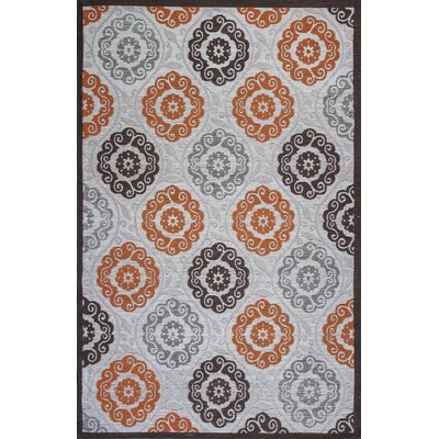 Linneman Ivory/Brown Indoor/Outdoor Area Rug Rug Size: 79 x 99