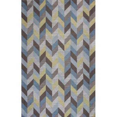 Lamonica Ocean Herringbone Blue Area Rug Rug Size: 79 x 99