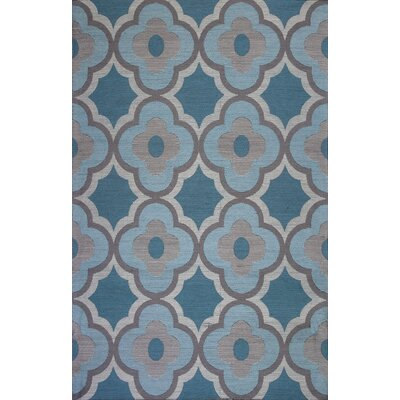 Linneman Filigree Gray/Blue Area Rug Rug Size: 5 x 76