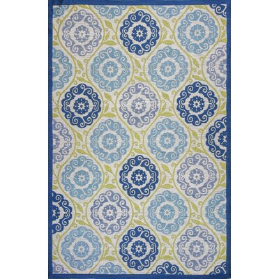 Linneman Blue/Green Outdoor Area Rug Rug Size: 79 x 99