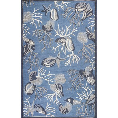 Sealy Blue Outdoor Area Rug Rug Size: 79 x 99