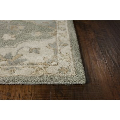 Landsdale Hand-Tufted Wool Gray Area Rug Rug Size: 79 x 96