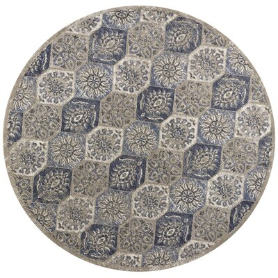 Holder Pewter Area Rug Rug Size: Round 77