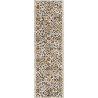 Holder Ivory Area Rug Rug Size: Runner 22 x 76