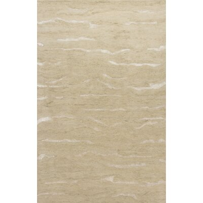 Bonaparte Hand-Tufted Beige Area Rug Rug Size: 76 x 96