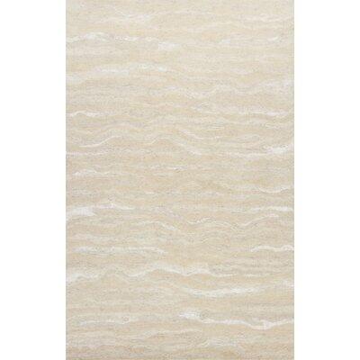 Bonaparte Hand-Tufted Ivory Area Rug Rug Size: 33 x53