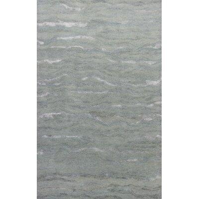 Bonaparte Hand-Tufted Wool Slate Area Rug Rug Size: 86 x 116