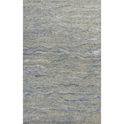 Bonaparte Hand-Tufted Ocean Wool Blue Area Rug Rug Size: 76 x 96