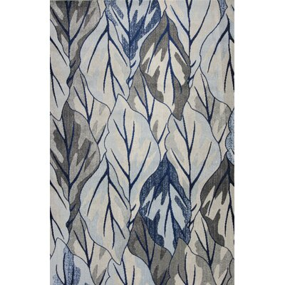 Upper Vobster Gray/Navy Area Rug Rug Size: 53 x 77