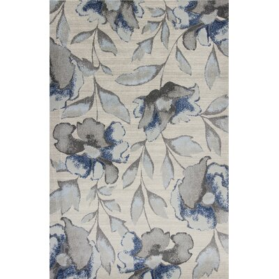 Upper Vobster Gray/Blue Area Rug Rug Size: 710 x 1010