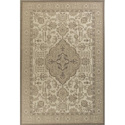 Holmes Wool Ivory/Beige Area Rug Rug Size: Rectangle 53 x 77