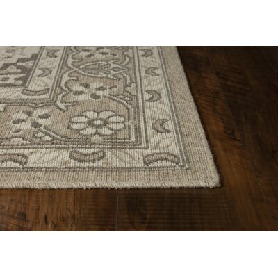 Holmes Wool Beige Area Rug Rug Size: Rectangle 53 x 77