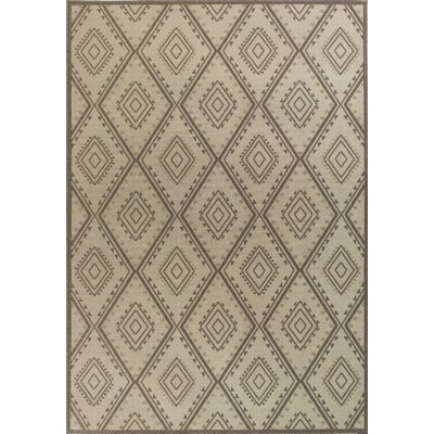 Cretien Flat Woven Wool Ivory Area Rug Rug Size: Rectangle 53 x 77