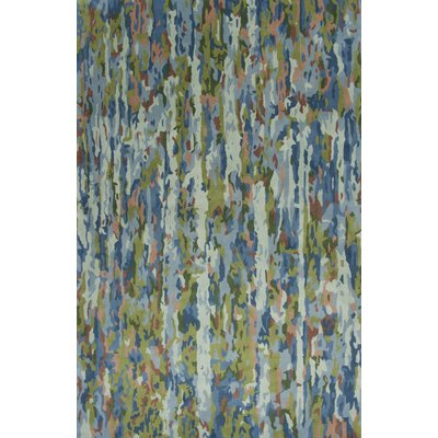 Bernardine Hand-Tufted Wool Sky Blue Area Rug Rug Size: Rectangle 79 x 99