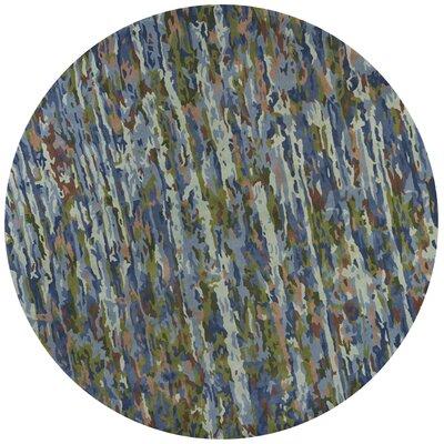 Bernardine Hand-Tufted Wool Sky Blue Area Rug Rug Size: Round 8