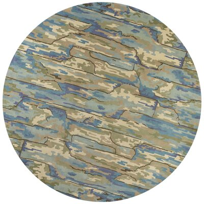 Bernardine Hand-Tufted Wool Beige/Blue Area Rug Rug Size: Rectangle 33 x 53