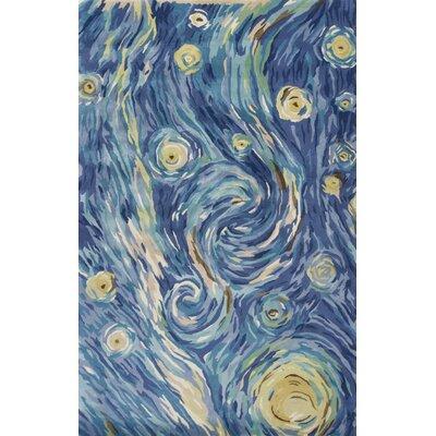 Bernardine Hand-Tufted Wool Blue Area Rug Rug Size: 9 x 13