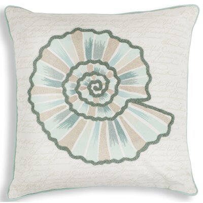 Bowen Vintage Seashell Linen Throw Pillow