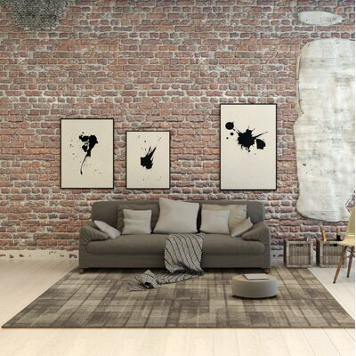 Calderon Twill Wool Natural Area Rug Rug Size: 53 x 77
