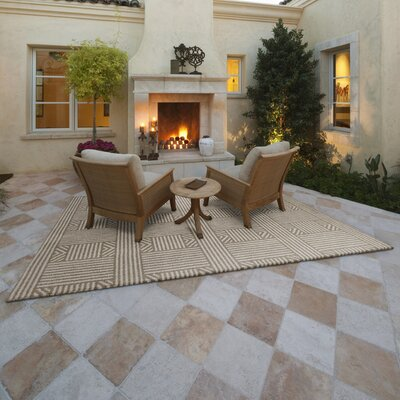 Lowesdale Beige Indoor/Outdoor Area Rug Rug Size: 53 x 77