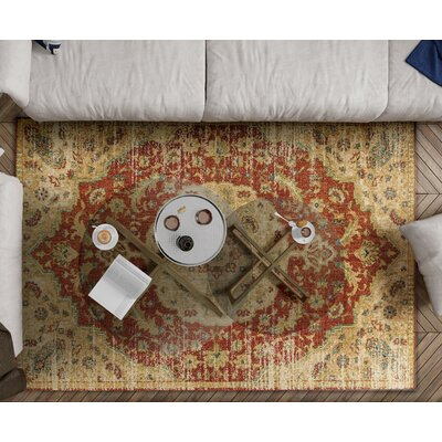 Holbrook Spice/Sand Area Rug Rug Size: Rectangle 3'3