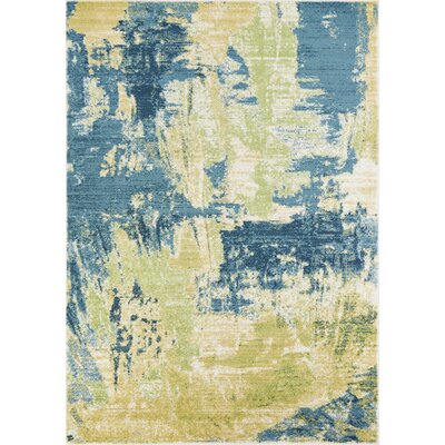 Tompkins Ivory/Blue Area Rug Rug Size: Rectangle 53 x 77