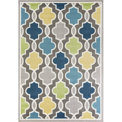 Tompkins Gray/Blue Area Rug Rug Size: Rectangle 53 x 77