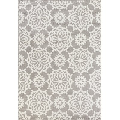 Novello Flora Gray Area Rug Rug Size: Rectangle 710 x 1010