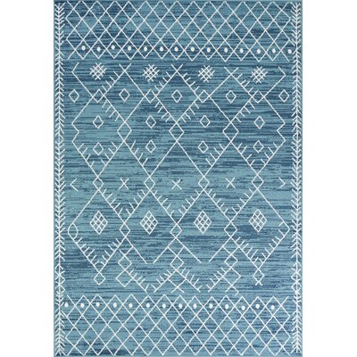 Templeton Ocean Blue Area Rug Rug Size: Rectangle 53 x 77