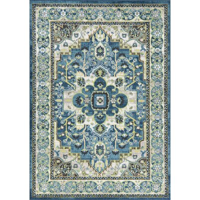 Palmerton Teal Area Rug Rug Size: Rectangle 53 x 77