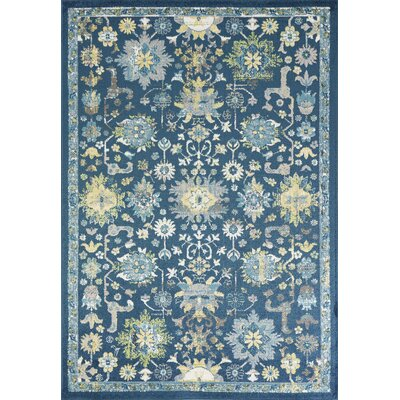 Berklee Teal Area Rug Rug Size: Rectangle 53 x 77