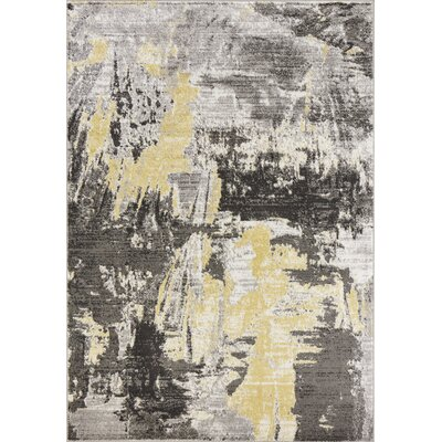 Tompkins Watercolor Gray Area Rug Rug Size: Rectangle 53 x 77