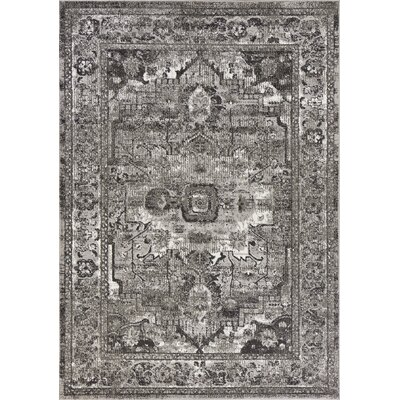 Anouk Charcoal Gray Area Rug Rug Size: Rectangle 710 x 1010
