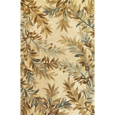 "KAS Oriental Rugs Sparta Ivory Tropical Branches Rug - Rug Size: Round 5'6"" at Sears.com"
