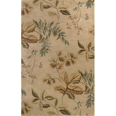 Shirlene Hand-Tufted Wool Ivory Folia Area Rug