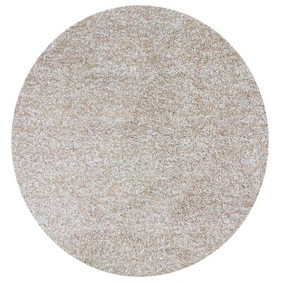 Foran Hand-Woven Heather Shag Ivory Area Rug Rug Size: Round 6